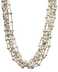 multi strand necklace images Macy 39 s pearl necklace sterling silver cultured freshwater pearl tif