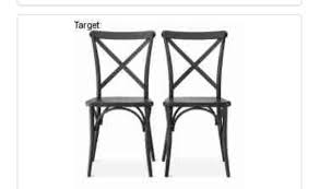 Black Metal Chairs Dining 2 Black Metal Dining Chairs New In Box Never Used Furniture