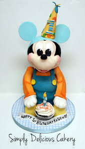 mickey mouse 1st birthday boy 3d baby mickey mouse 1st birthday fondant with fondant accents