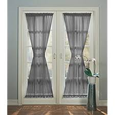 Top And Bottom Rod Curtains Amazon Com Ecru Sheer Sidelight Curtain 36