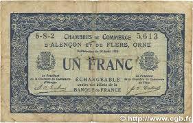 chambre de commerce alencon 1 franc regionalism and miscellaneous alencon et flers 1915
