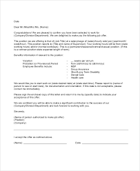 job offer letter content accepting a job offer letter with