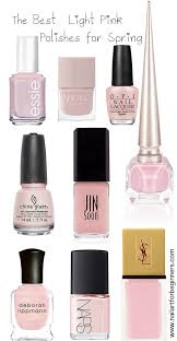 the best light pink nail polishes for spring nail art for beginners