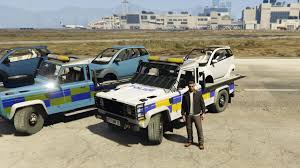 land rover defender lifted land rover defender recovery truck with car unlocked gta5