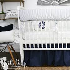 Navy Crib Bedding Farmhouse Baby Crib Bedding Sets Rustic Nursery Decor