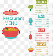 menu template png images vectors and psd files free download