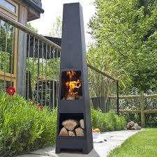 Chiminea Vs Fire Pit by Malmo Chiminea Patio Heater And Log Store Log Store Haciendas