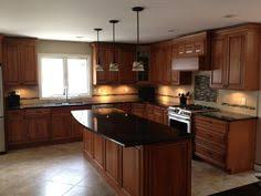 Cherry Wood Kitchen Cabinets With Black Granite Cherry Cabinets With Black Granite Idea For Backsplash Kitchen