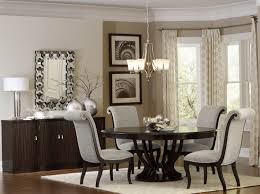 savion espresso round pedestal extendable dining room set from