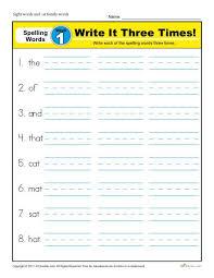 first grade spelling words list week 1 k12reader
