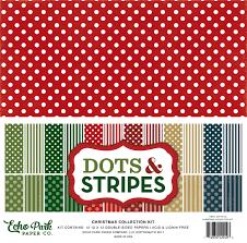 collections echo park paper co christmas dots u0026 stripes