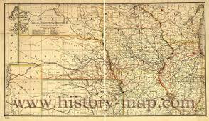 Chicago Railroad Map by Burlington U0026 Quincy Railroad