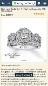 neil bridal set neil 1 1 6 ct tw wedding set 14k white gold i do now i don t