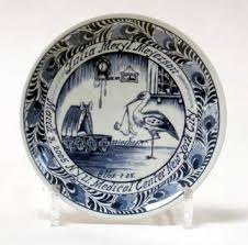 baby birth plates personalized braat and company llc importers of delft blue