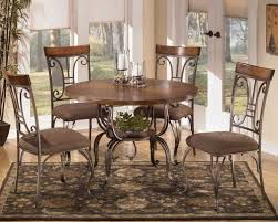 wood and metal round dining table chicago metal wood dining room furniture