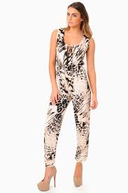 cheetah jumpsuit piper print jumpsuit iclothing