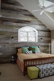 Small Bedroom Ceiling Fan Bedroom Small Bedroom With Reclaimed Wood Wall Also White Bed