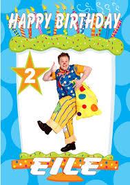 personalised mr tumble birthday card