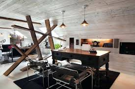 Industrial Office Desks by Office Industrial Office Decorating Ideas Rustic Chic Home