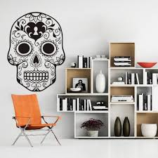 aliexpress com buy mexican sugar skull wall art stickers home aliexpress com buy mexican sugar skull wall art stickers home decoration vinyl wall sticker decal adesivo de parede home decor mural 46