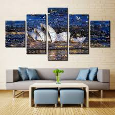 home decor sydney 5 piece canvas painting architectural landscape unframed picture