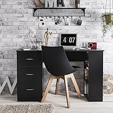 Black Computer Desk Black Computer Desk Workstation Table With 3 Drawers U0026 3 Shelves