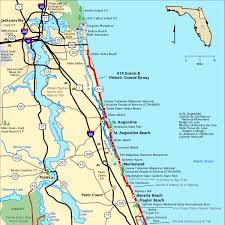 americas byways a1a scenic historic coastal byway map america s byways
