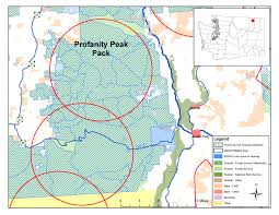 Washington State County Map by Washington Wolf Packs Profanity Peak Washington Department Of