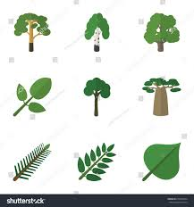 birch wood halloween background flat icon nature set wood evergreen stock vector 670259254