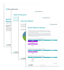 productivity report template social network activity report sc report template tenable
