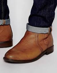 wholesale price asos zip chelsea boots tan leather men 00354