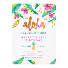 25th birthday invitations announcements zazzle