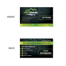 business cards for roofing contractors design print services