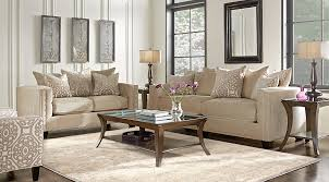 Rooms To Go Living Room Set Cindy Crawford Home Sidney Road Taupe 7 Pc Living Room Living