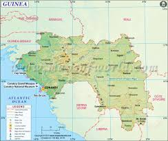 East Coast Time Zone Map by Guinea Map Map Of Guinea