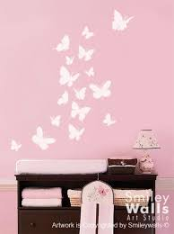 Wall Decal Butterflies Set Of  Nursery Kids Vinyl Wall Decal - Butterfly kids room