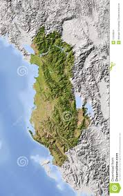 Map Of Albania Albania Shaded Relief Map Stock Images Image 11558604