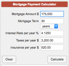 Estimate Mortgage Rate mortgage payment calculator with taxes and insurance