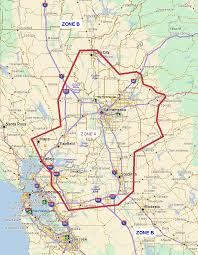 Fremont Zip Code Map by Sacramento Courier