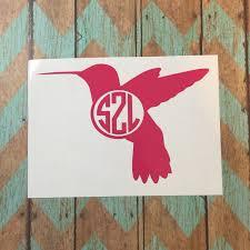 hummingbird monogram decal car decal vinyl decal vinyl zoom