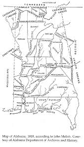 Map Of Al 1818 Map Of Alabama