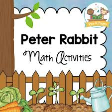 peter rabbit math activities pre pages