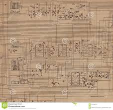 Electrical Plan by Electrical Plan Old Paper Stock Illustration Image 47150772