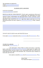 alabama quit claim deed form deed forms deed forms