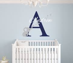 Custom Nursery Wall Decals Custom Name Elephant Wall Stickers For Room Personalized Boys