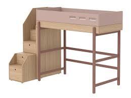 Flexa Schreibtisch Flexa Popsicle Hochbett Mit Stauraum Treppe Cherry 90x200cm Inkl