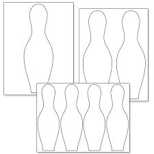 Ten Pin Bowling Sheet Template Printable Bowling Pin Template Printable Treats For The
