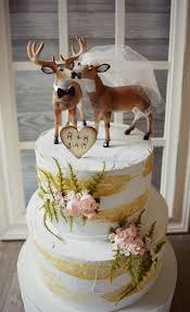 buck and doe wedding cake topper deer wedding cake topper blush ivory veil groom