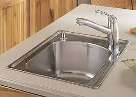 how to replace a self rimming surface mounted sink