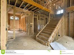 new home construction framing foyer area royalty free stock photos